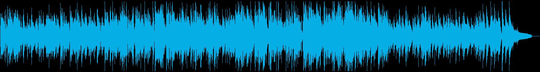 ほんわかサックスのアコースティックジャズの再生済みの波形