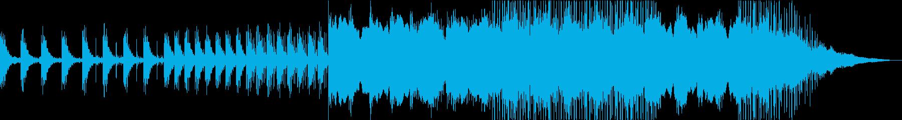 静寂の中に重たさがあるエレクトロニカの再生済みの波形