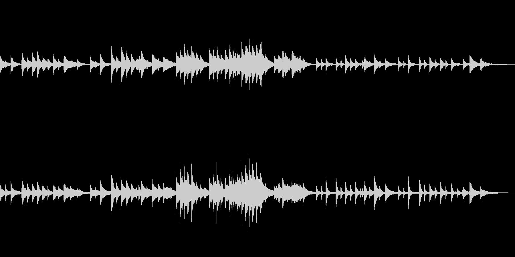 C=528Hz 癒しのピアノ 深い祈りの未再生の波形