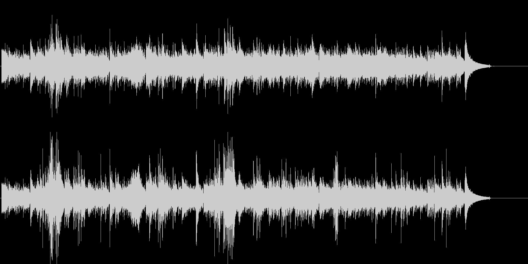 ピアノとギターのナチュラル系ヒーリングの未再生の波形
