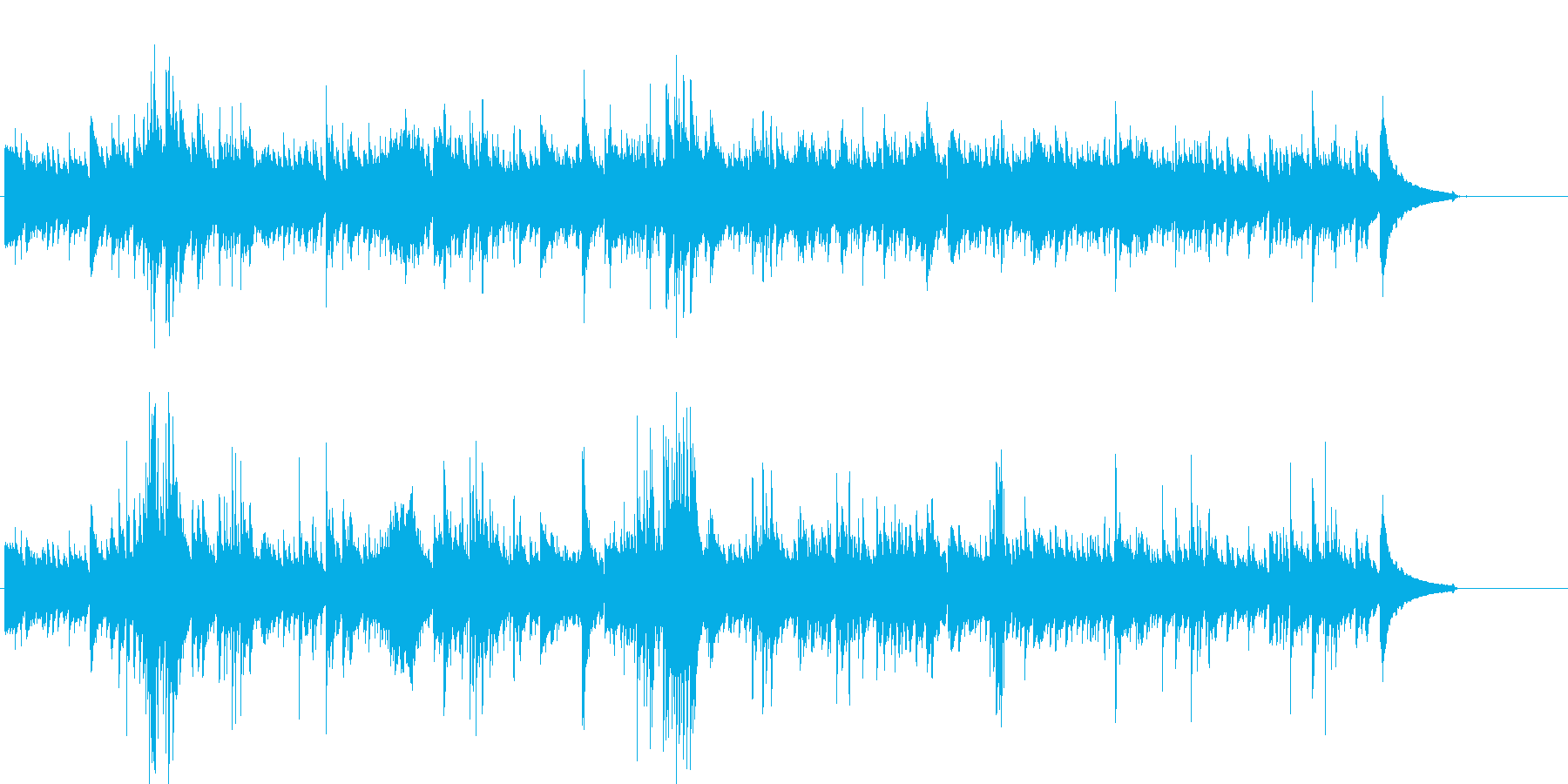 ピアノとギターのナチュラル系ヒーリングの再生済みの波形