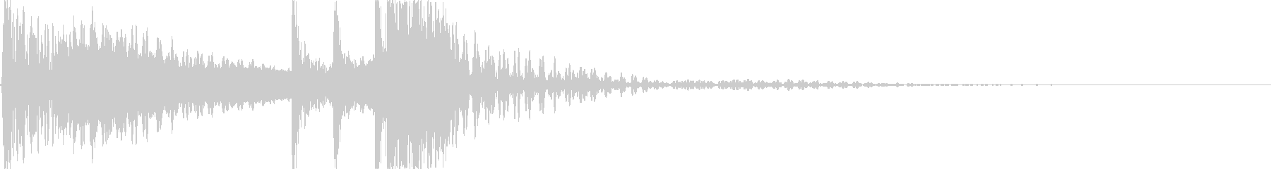 「ヒーィ・カカドン」の未再生の波形
