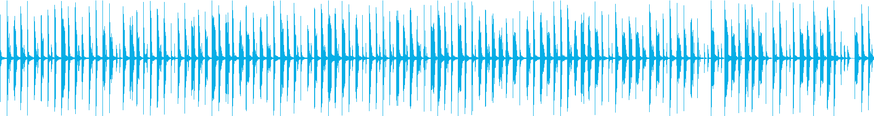 メニュー画面・汎用ループ単調シンセの再生済みの波形