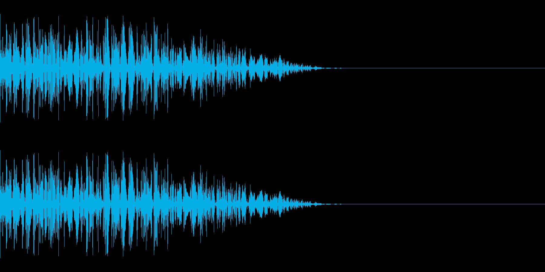ドカッ(打撃/キック/中攻撃)の再生済みの波形