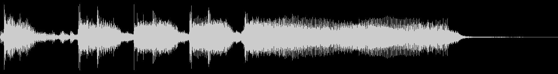 インパクトあるロックなジングル03の未再生の波形