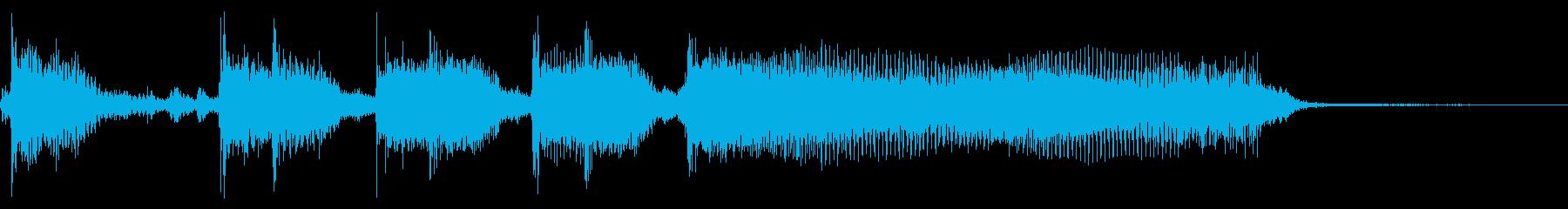 インパクトあるロックなジングル03の再生済みの波形