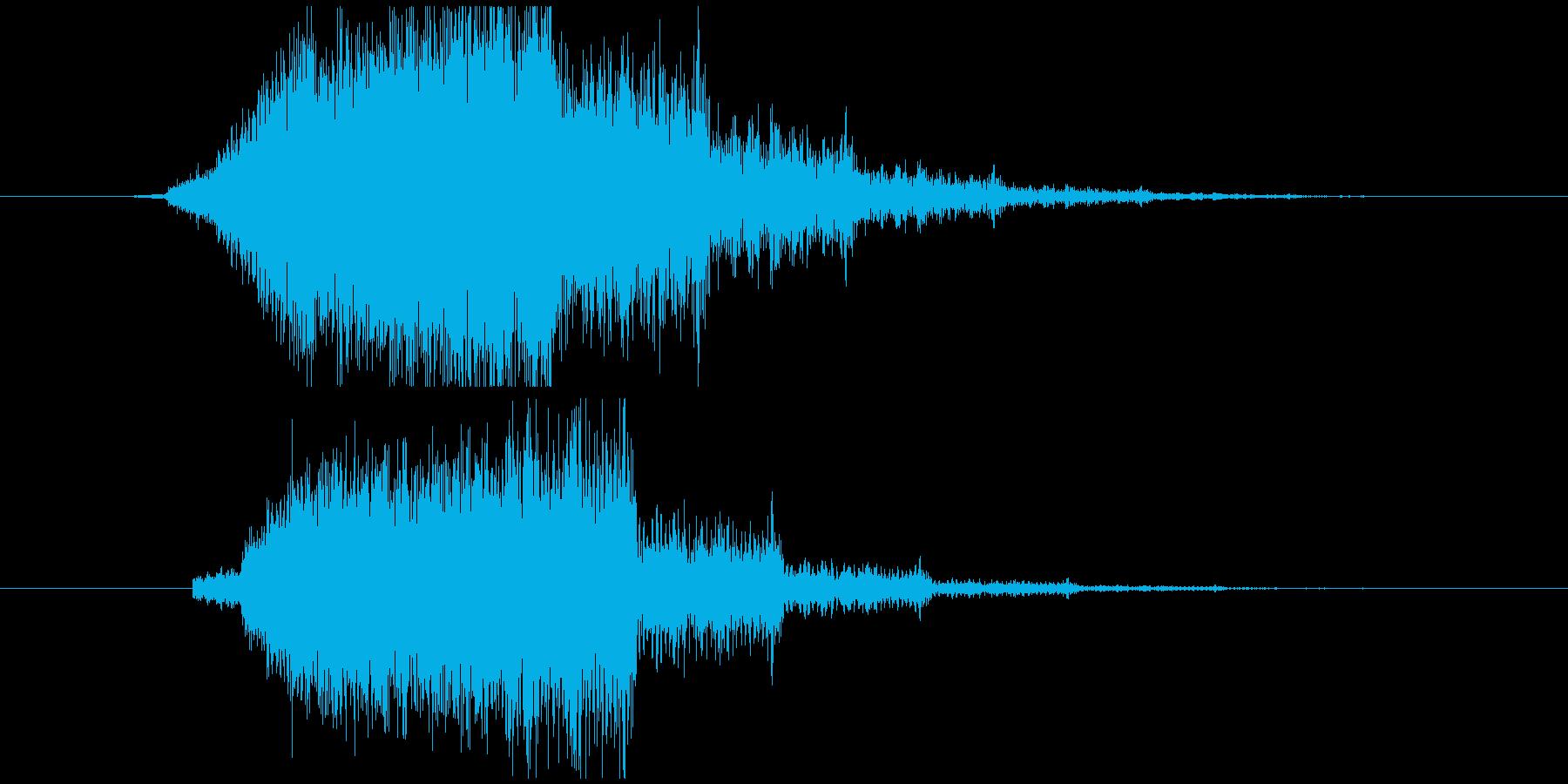 ジーンというホラー系の効果音 の再生済みの波形