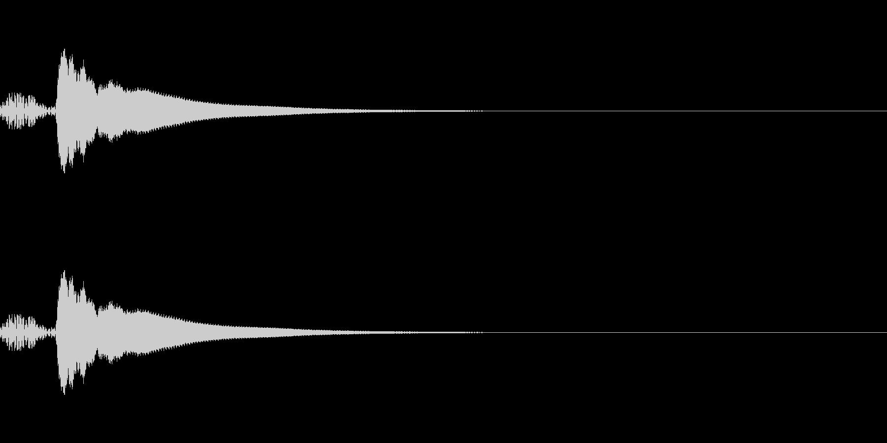 カーソル移動音2 文字 入力 楽しい 和の未再生の波形