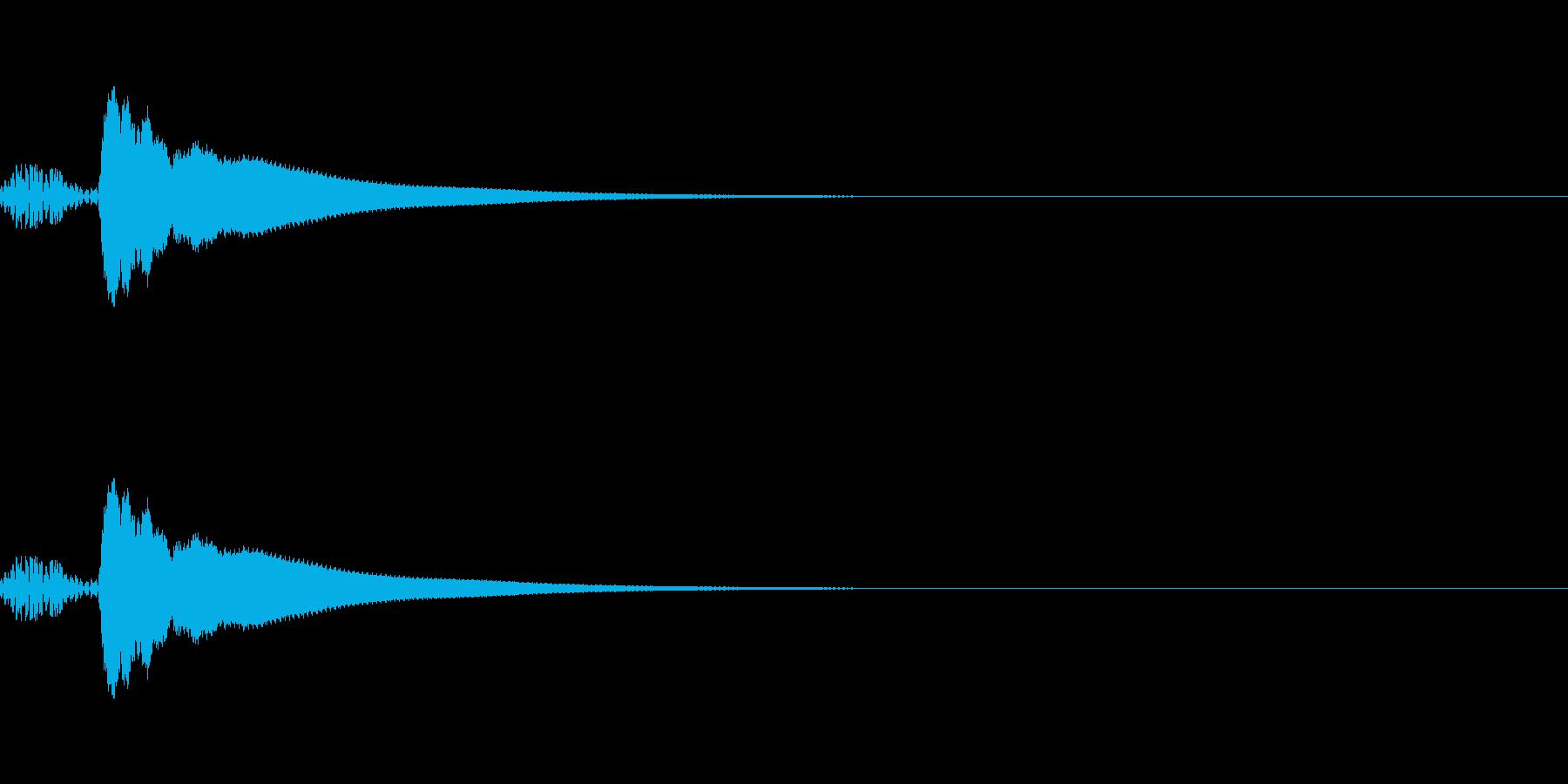 カーソル移動音2 文字 入力 楽しい 和の再生済みの波形