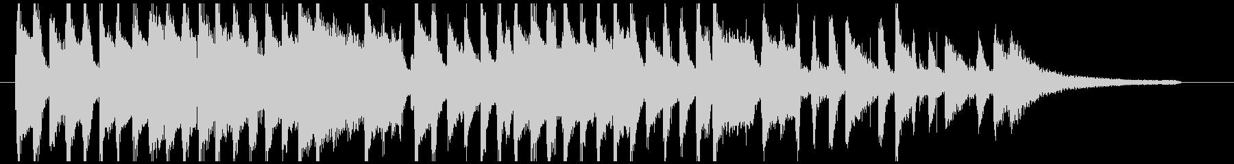 ピアノとふわふわシンセ かわいい短い曲の未再生の波形