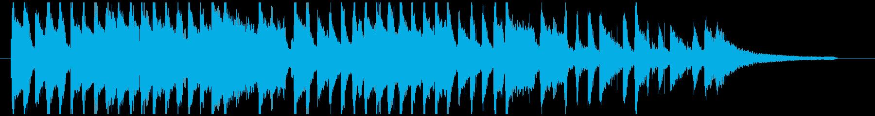 ピアノとふわふわシンセ かわいい短い曲の再生済みの波形