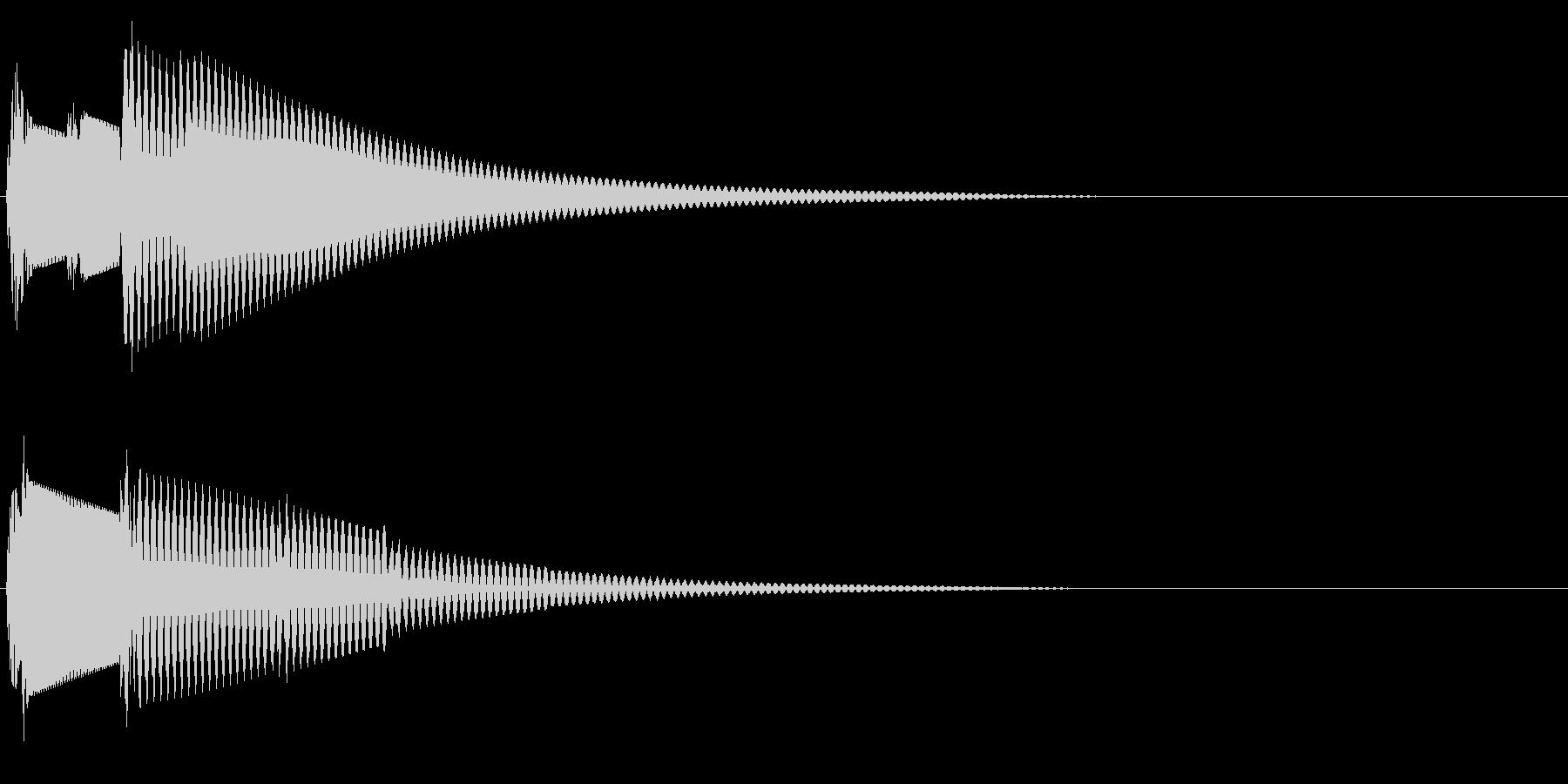 ピロン(決定音・起動音・ひらめき)の未再生の波形