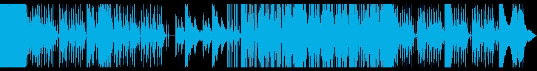 地下室・異空間 力強く迫力のあるEDMの再生済みの波形