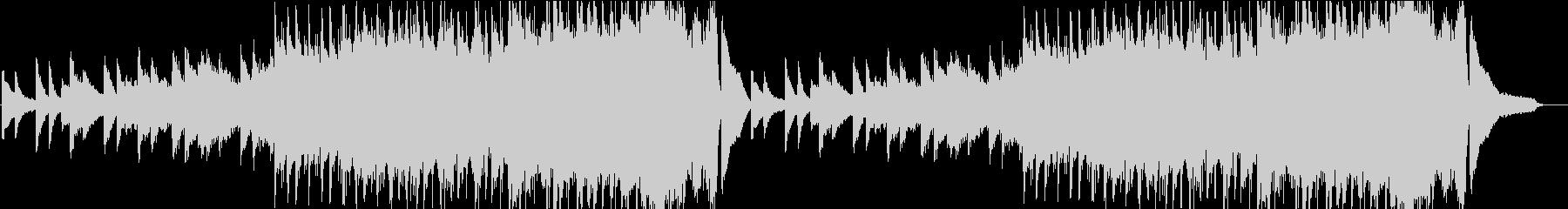 ピアノオンリーの徐々に激しくなる曲の未再生の波形