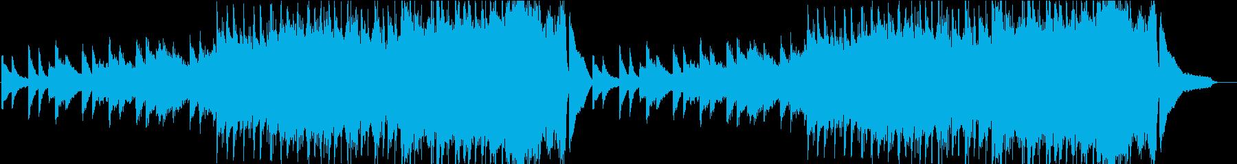 ピアノオンリーの徐々に激しくなる曲の再生済みの波形