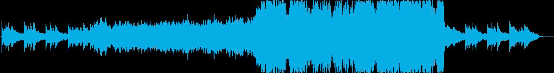 儚くも勇壮なオーケストラBGMの再生済みの波形