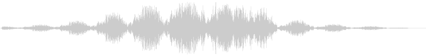 ゆっくりと回転移動するような効果音の未再生の波形