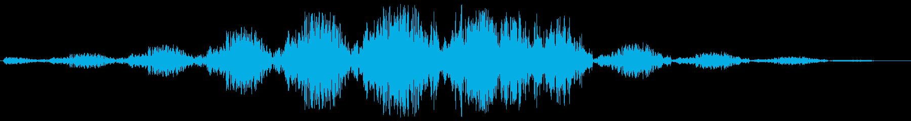 ゆっくりと回転移動するような効果音の再生済みの波形