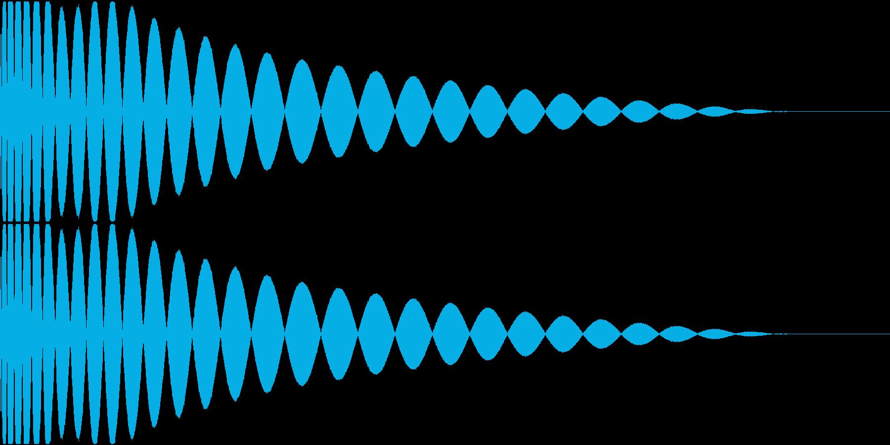 DTM Kick 87 オリジナル音源の再生済みの波形