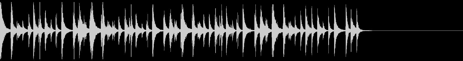 民族楽器なシンキングタイム音の未再生の波形