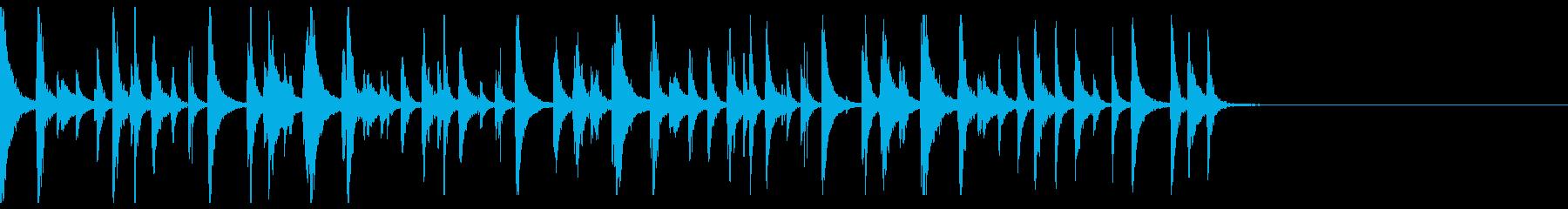 民族楽器なシンキングタイム音の再生済みの波形