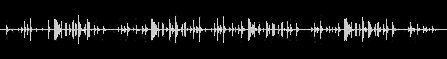 おバカキャラのBGMの未再生の波形