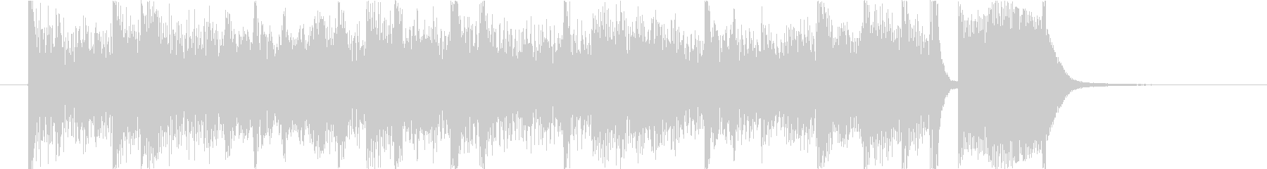 デジタルなミニマルショートBGMの未再生の波形