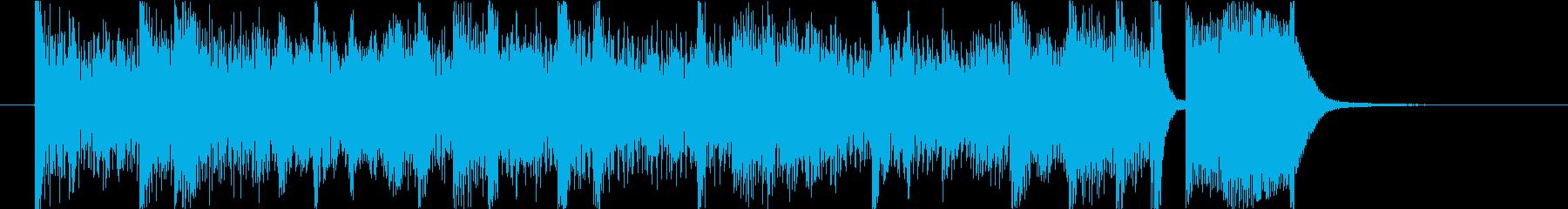デジタルなミニマルショートBGMの再生済みの波形