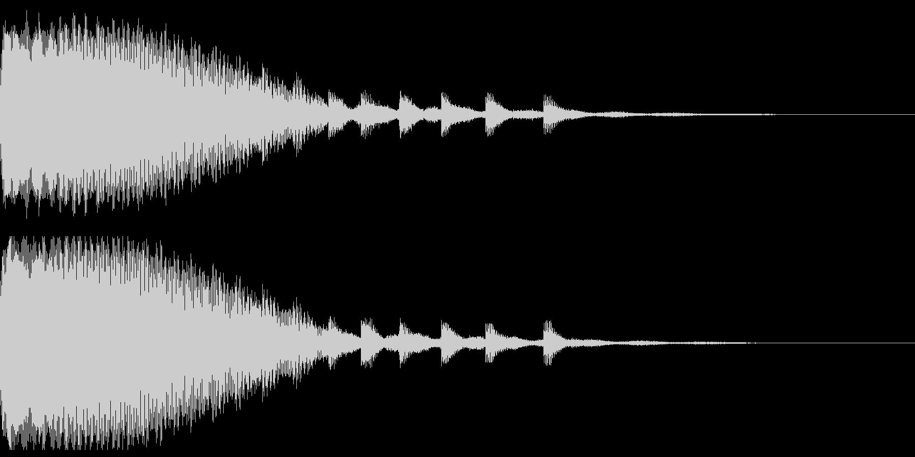 ルーレットのようなインパクト音の未再生の波形