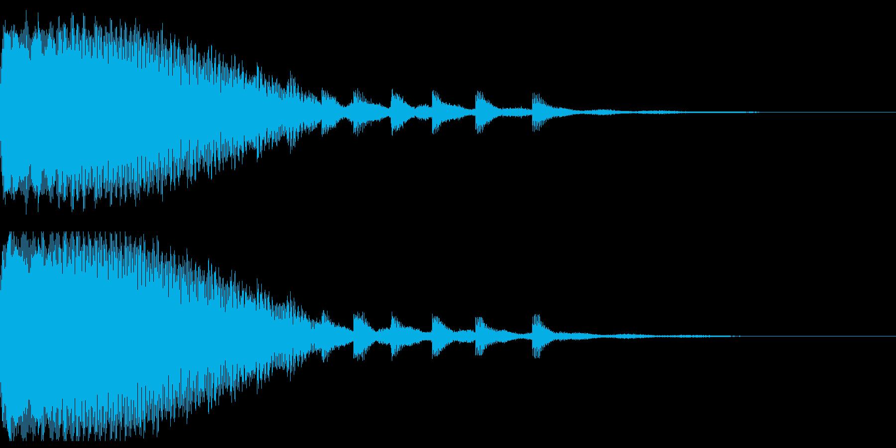 ルーレットのようなインパクト音の再生済みの波形