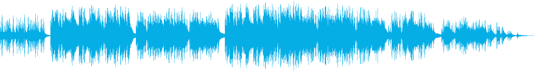 叙情的ピアノソロ曲の再生済みの波形