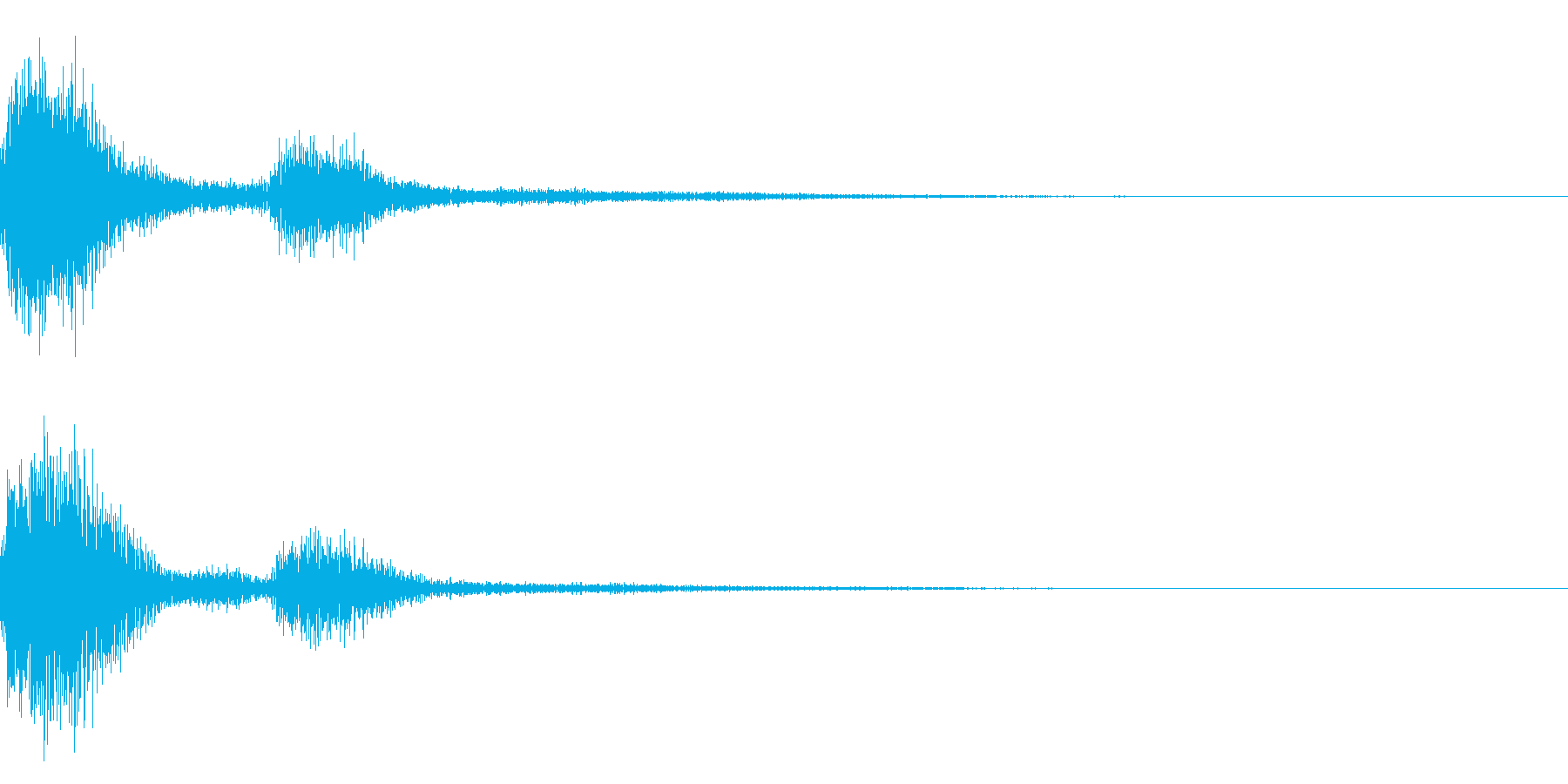 注意、警告を意味するボタン音やテロップ1の再生済みの波形