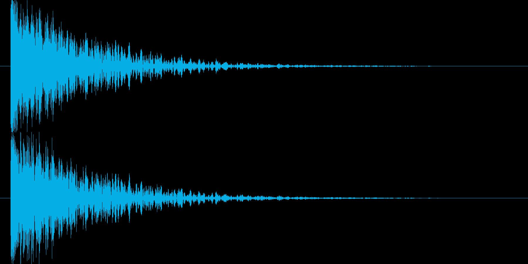 破裂音と爆発音が混ざった感じの再生済みの波形