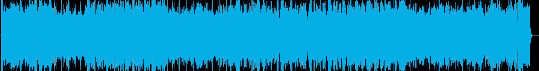 ガッツあふれる熱い曲調の現代音楽の再生済みの波形