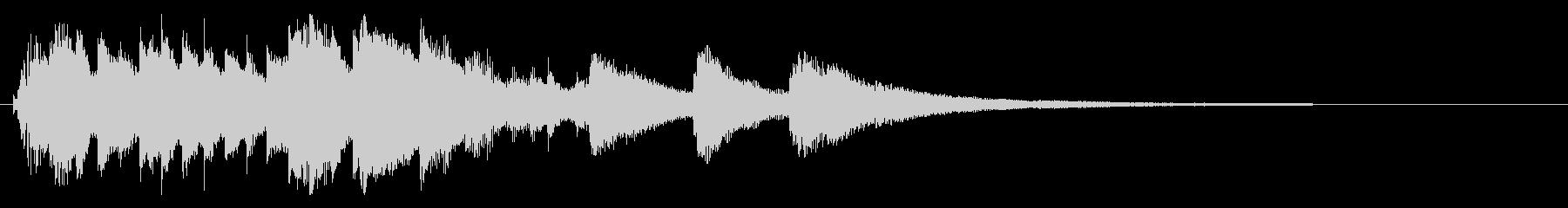 キラキラピアノジングルの未再生の波形