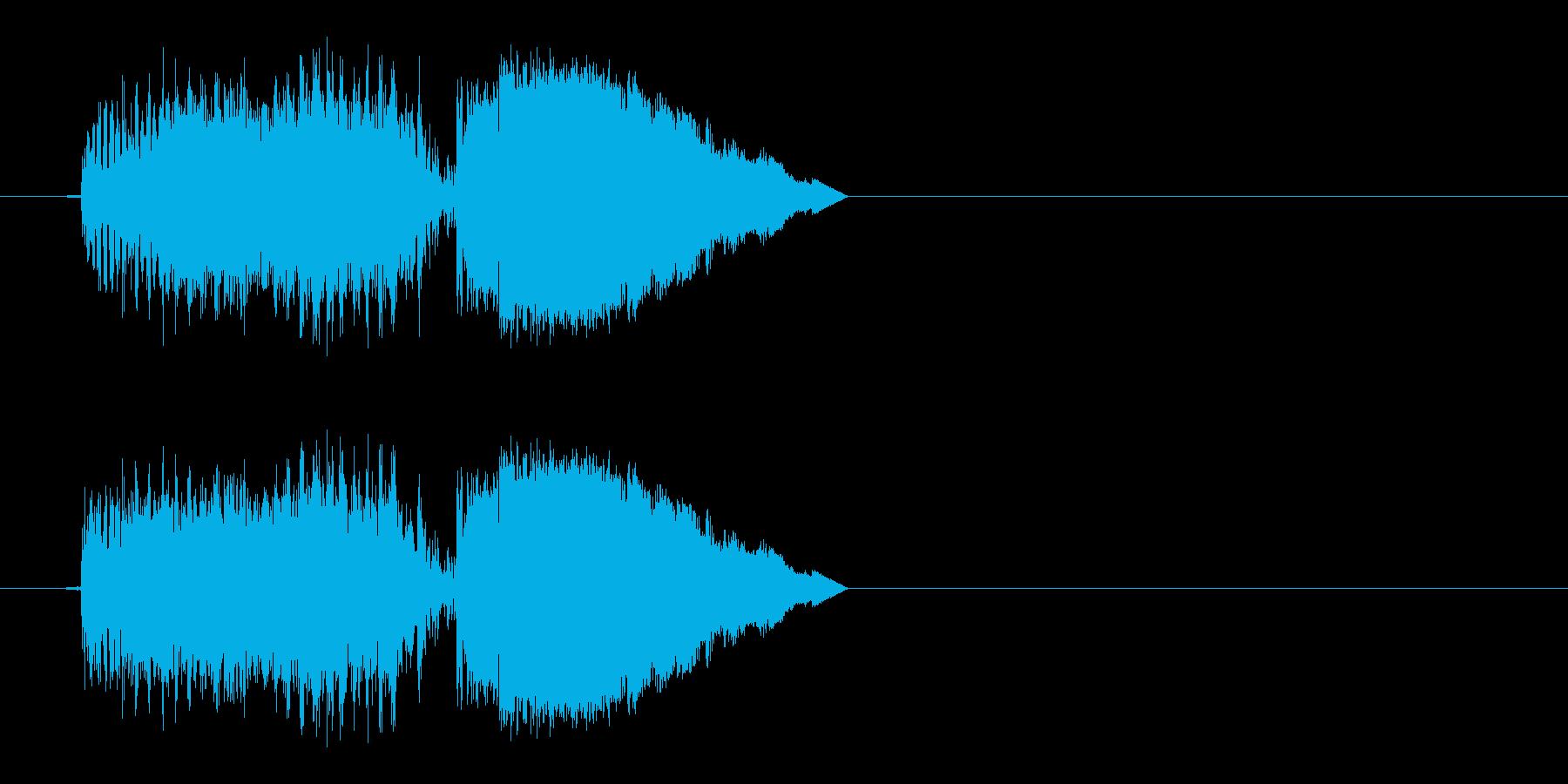 電撃ショックの再生済みの波形