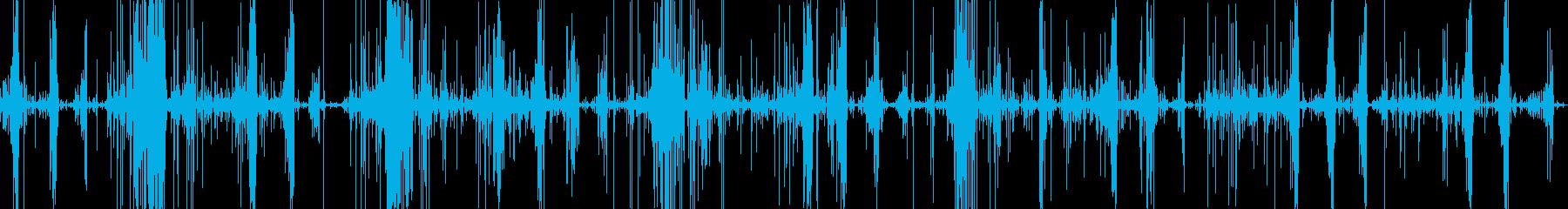 スライムをハサミで切る音です。の再生済みの波形