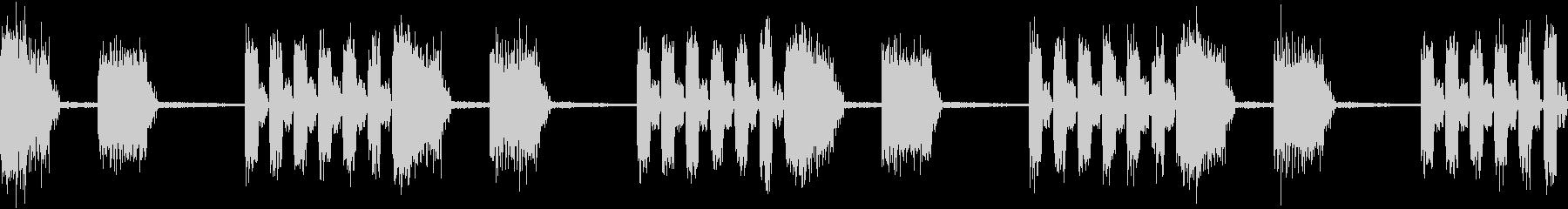 SFX デジタルボイスの不気味なループ+の未再生の波形