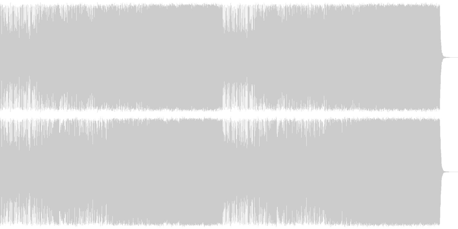 聴きやすさ重視のアップテンポなメタルの未再生の波形