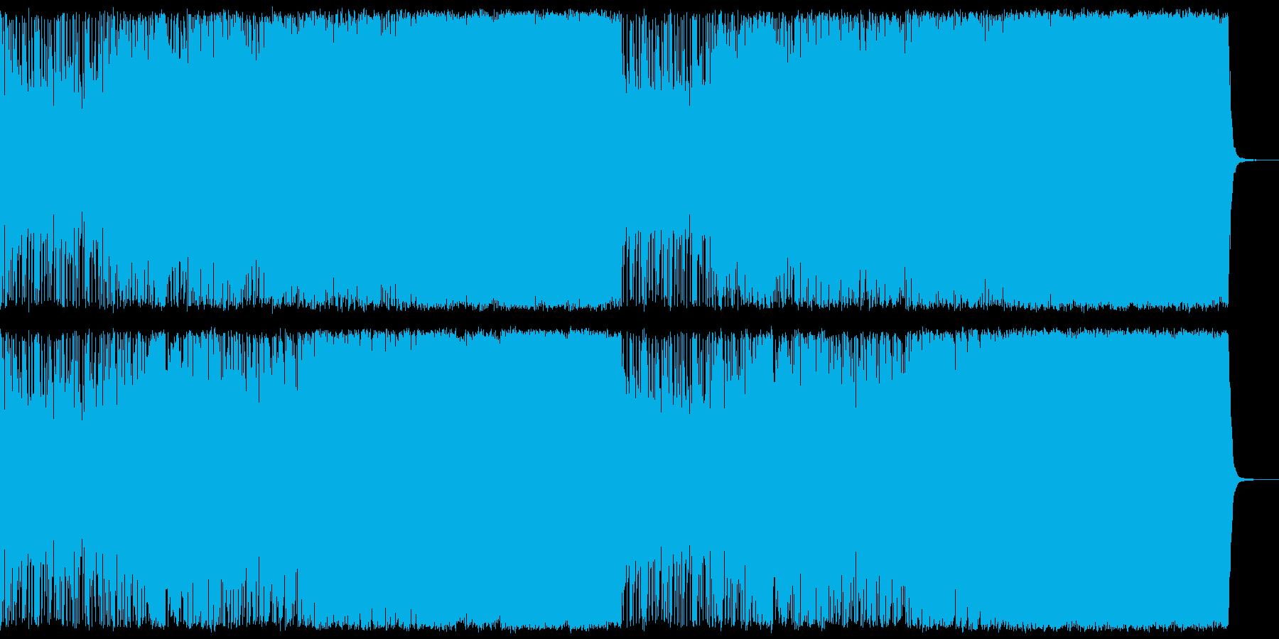 聴きやすさ重視のアップテンポなメタルの再生済みの波形