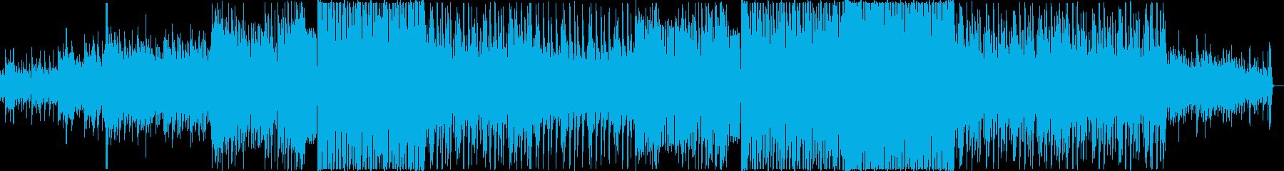 夏っぽい爽やかなEDMの再生済みの波形