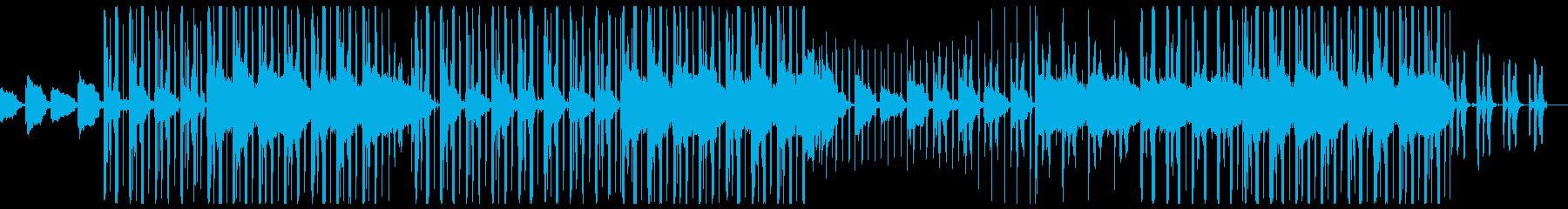 ギターとフルートがメインの落ち着いた曲の再生済みの波形