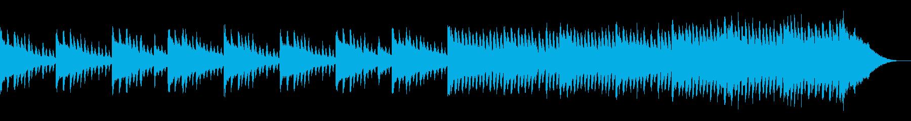 ピアノの感動的な旋律が耳に残る曲の再生済みの波形