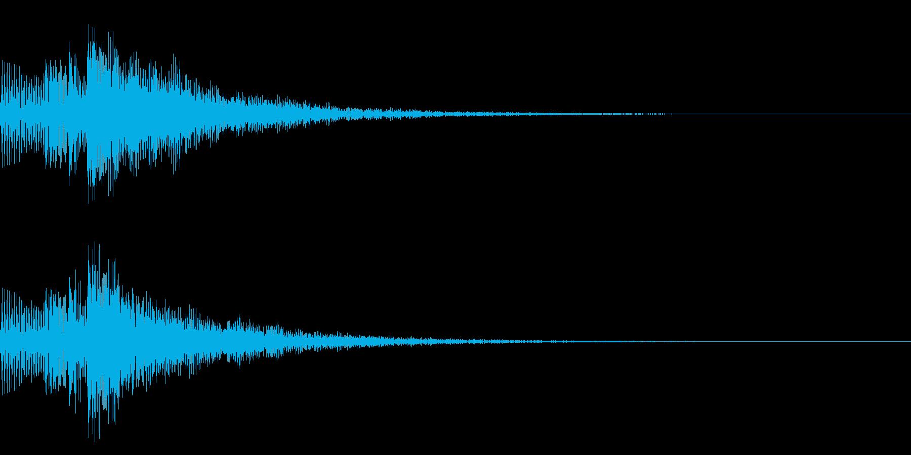 アプリやゲームなどのスタート、リセット音の再生済みの波形