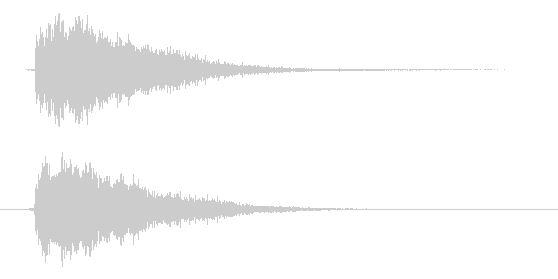 IT系効果音1の未再生の波形
