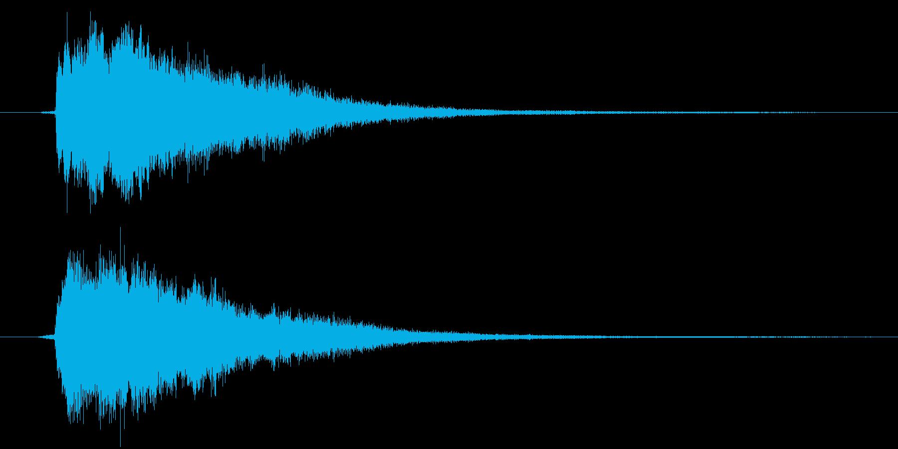 IT系効果音1の再生済みの波形