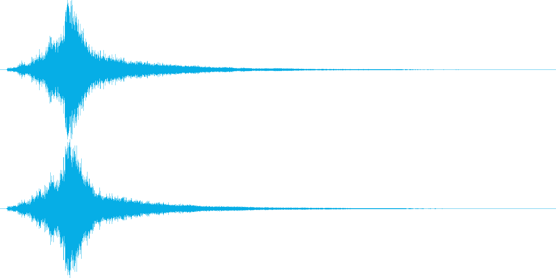 能力が上がる音(シャキン)の再生済みの波形