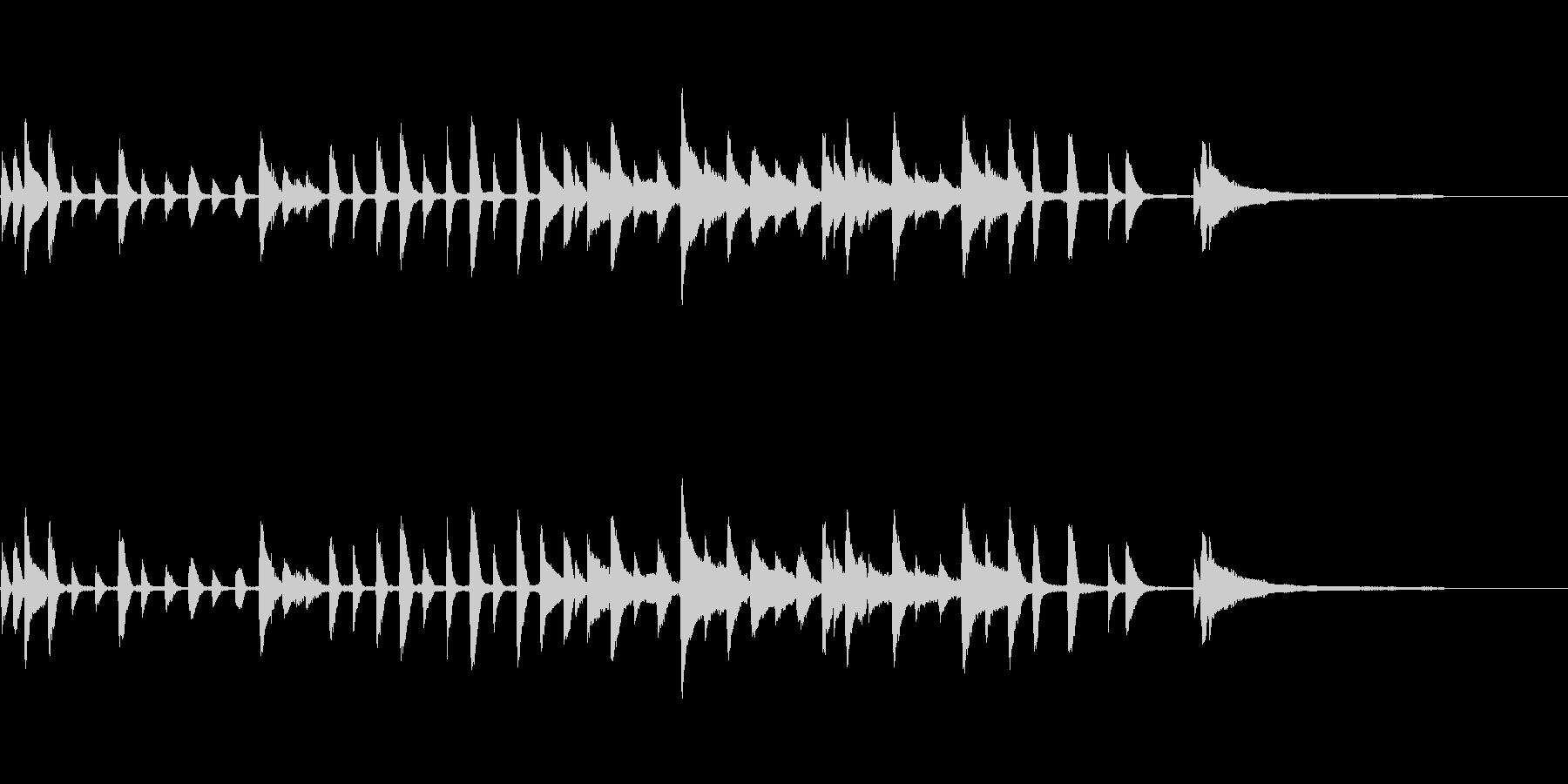 メルヘンある子供むきトイピアノの未再生の波形