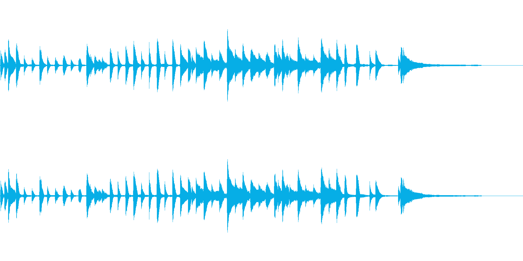 メルヘンある子供むきトイピアノの再生済みの波形