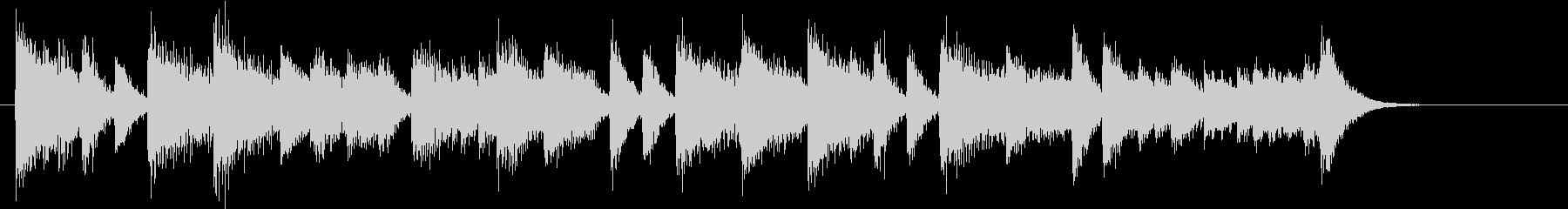 童謡・紅葉モチーフのピアノジングルBの未再生の波形